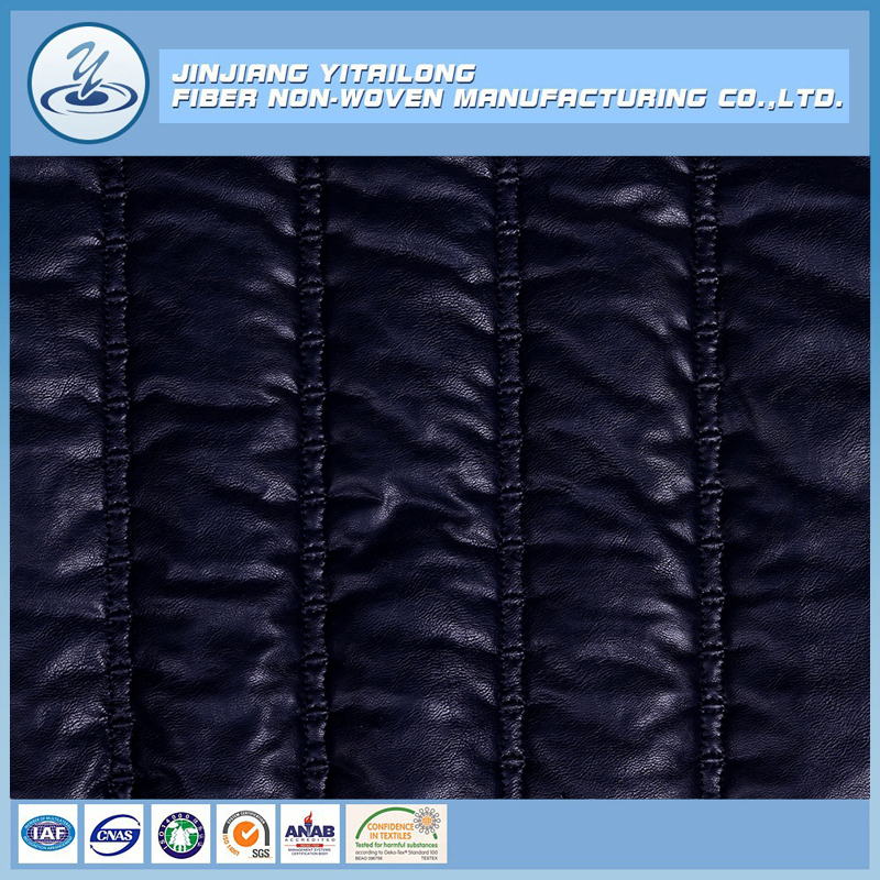 Fashion Designed Sewing Embroidering Quilted Fabric for Jacket Coat Double Faced Pre Quilted Fabric