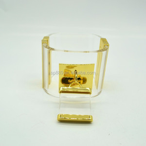 Best quality clear acrylic lock bangle bracelets with padlock fashion arm jewelry factory