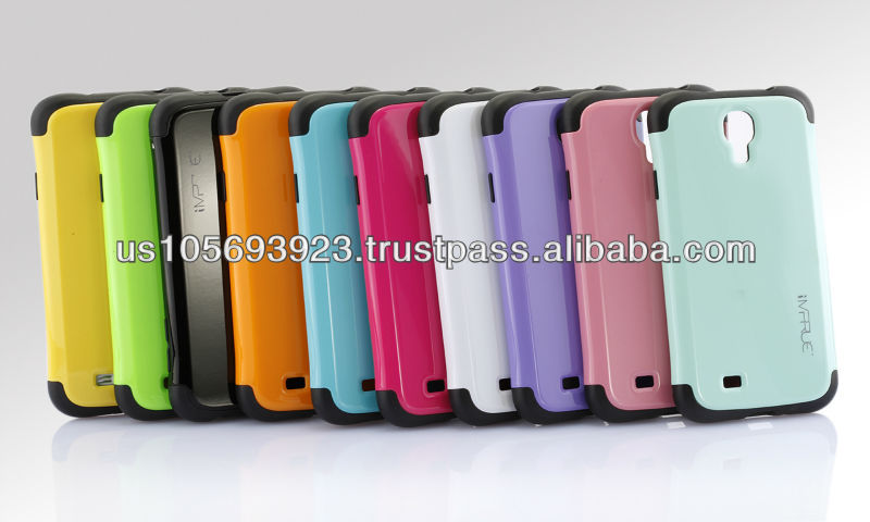 New Luxury 2 IN 1 TPU PC Combo Case Cover For Sumsung S4