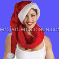 Adult Red giant santa hat