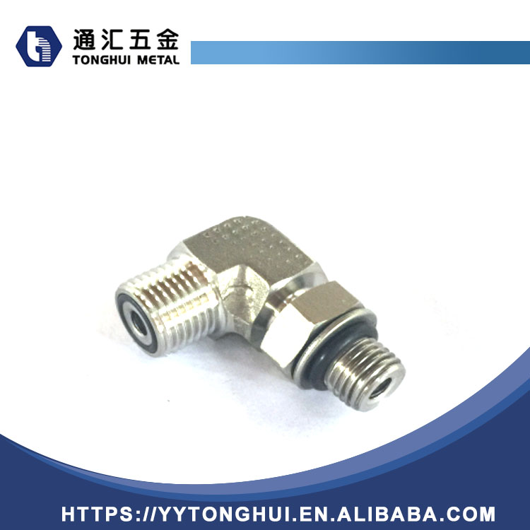 90 Degree Elbow Metric / Bsp Male Adjustable Tube Fitting