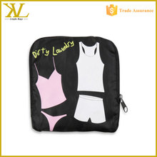 Polyester lingerie Laundry wash bag, folable Dirty Laundry bag for travel