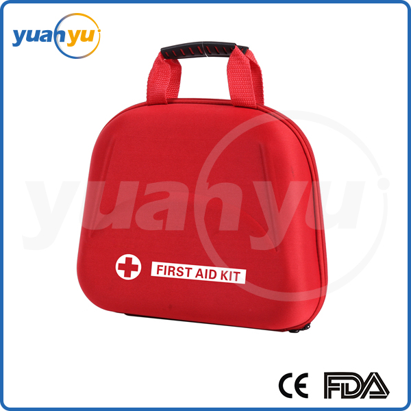2016 Promotional CE FDA ISO approved Deluxe Emergency Road Kit first aid kit in eva bag