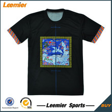 100% polyester dye sublimation cut and sew tshirts