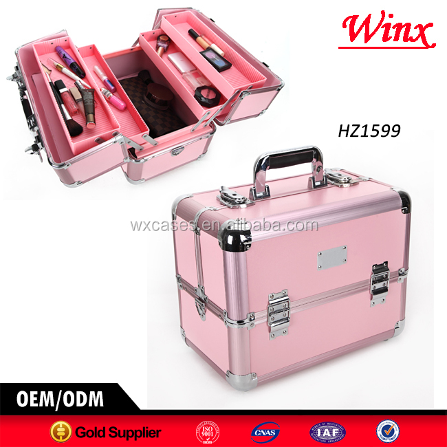 Professional hard aluminum cosmetic case , aluminum case with different colors for sale