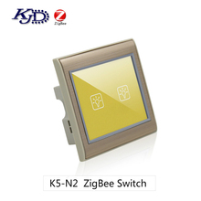 Smart Home Automation System Wall Touch Switch ZigBee 2 Gang Switch