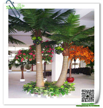 SJYZS-03 indoor ornamental plants new design plastic palm tree artificial coconut tree