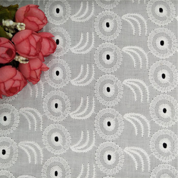 100% plain white cotton fabric classic embroidery fabric