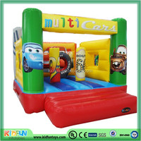 Car inflatable bouncer castle for boy