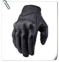 Cheap winter sports brown leather motorcycle gloves