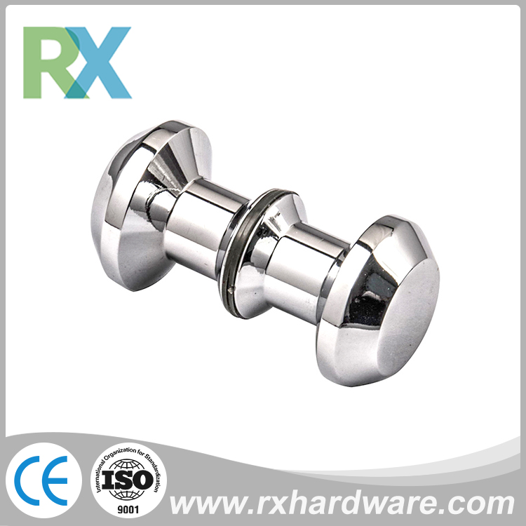 Good quality small stainless steel glass shower room door knobs hardware