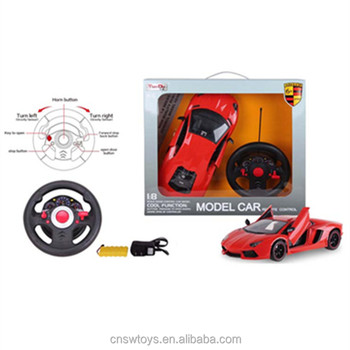 YK0809283 Wholesales toy from china remote control car 4 channel with light and batteries 6 functions can open door solo car