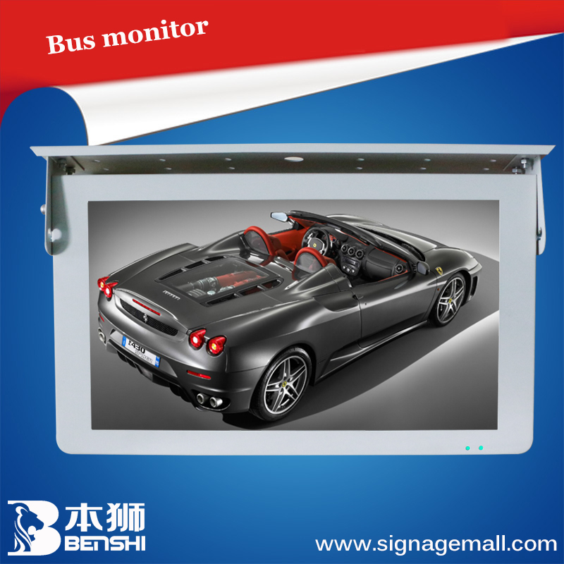21.5 inch sexy hot bus lcd/led advertising screen monitor install on headrest