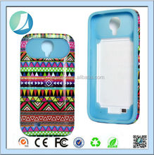 Colorful oil painting silicon+pc material cell phone case for galaxy s4