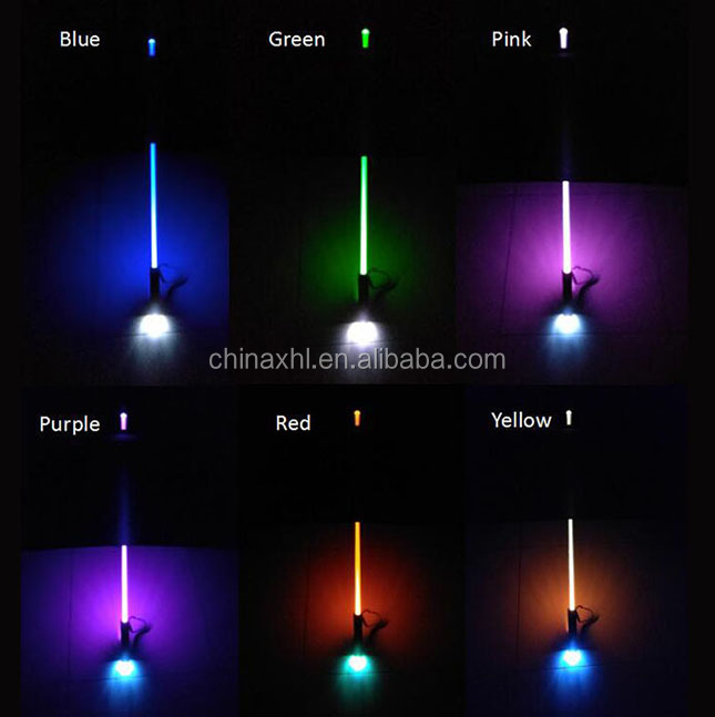 High Quality Hot Selling Colorful Shaft shine straight LED Umbrella
