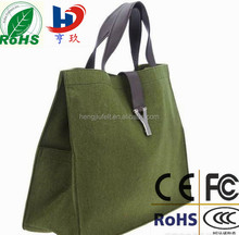 beautiful design, eco-friendly grey color felt tote bag