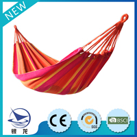 Popular outdoor furniture, fastness stripe hammock with chinese supplier