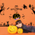 Flying Witches Bats Halloween Wall Decals Removable halloween sticker
