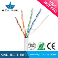 Factory lowest price blue/grey/yellow color Copper network cable 24awg 4prs utp cat5e lan