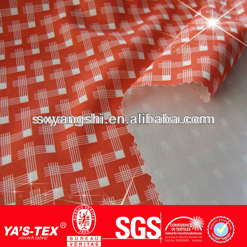 Polyester spandex outdoor elastic printing stretch woven fabric