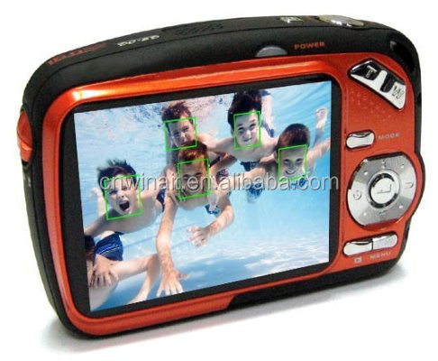 "Best sale 5.0MP Waterproof outdoor digital Camera with 2.5"" TFT screen 4X Digital Zoom 2X Advanced Zoom sport camera DC-225"