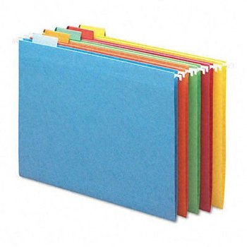 Paper Suspension File Folder,100%Recycled, Assorted Colors