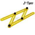 New arrive High quality 100-250MM multi-function fold ruler Fold angele Angleizer Template Tool