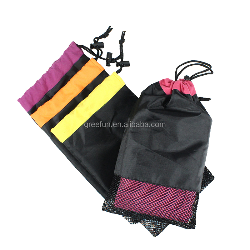 Hot Sale Custom Ultra Absorbent Microfiber Pet Dog Soft Quick Dry Towels With Mesh Bag , High Quality Micro Fiber Travel towel