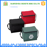 Cheap customized size insulated polyester big built lunch bags