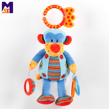 New idea product safety stuffed baby musical hanging toys plush monkey