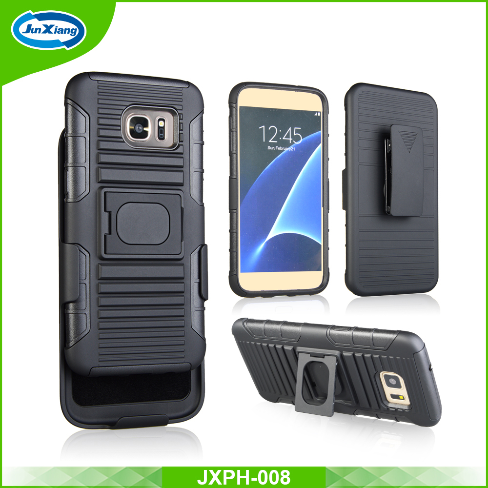 New Arrival Swivel Stand Ring Armor Holster Phone Case for Samsung Galaxy S7 Edge