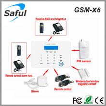 2016 newest wireless office security alarm system Saful GSM-X6 wireless safety Touch Screens burglar alarm