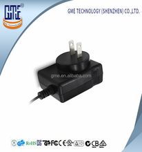 Shenzhen 2 Years Warranty GME UL Approval Plug in USA Style AC DC Power Adaptor