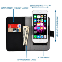 C&T Unique and protective slider card slots leather case cover for iphone6