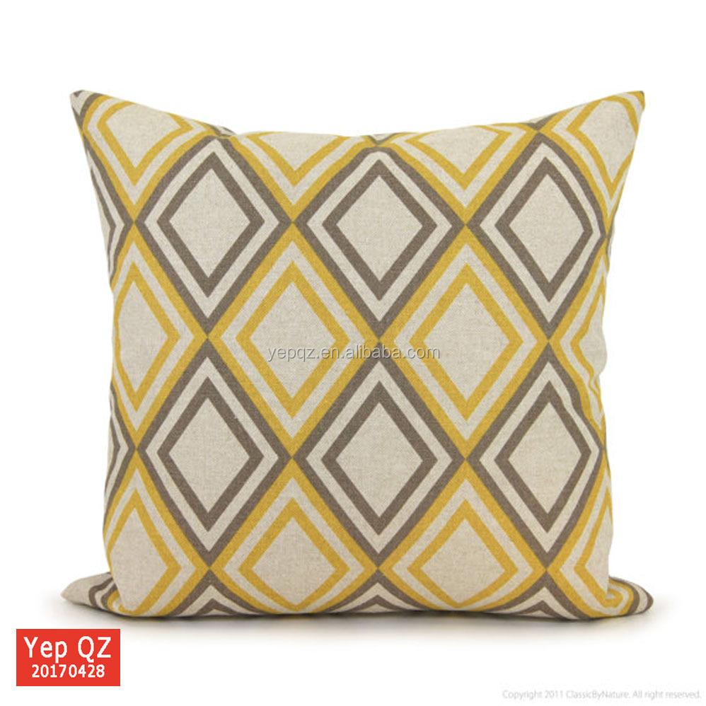 Factory supply directly high quality custom rhombus printed Sofa Cushion cover for pillow