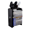 Multifunctional Games Disk Storage Tower and Dual Charger Stand for PS4 Pro, PS4 Slim, PS4 and XBOX ONE (S)