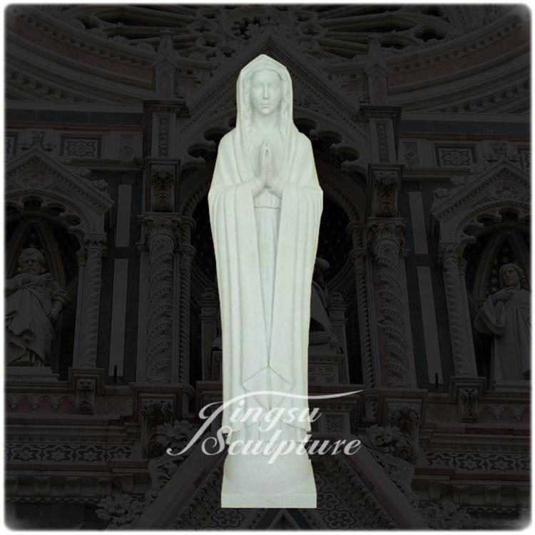 Home decoration stone carving garden statuemarble virgin mary statue