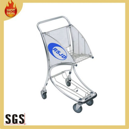 Shopping trolly aluminum alloy airport shopping trolley