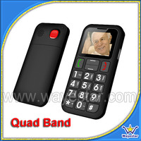GSM Quad Band SOS Key Mobil Telefon for Old People 1.77 inch