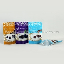 Customized zipper bottom gusset stand up pouch