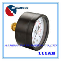 High quality black steel 0-100 psi 7 bar pneumatic compressed air pressure gauge
