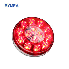 Auto truck rear Lamp LED Signal Light 4'' Round LED Combo Stop/Turn/Tail/Back up Functions 4 in 1 for Truck Tailor