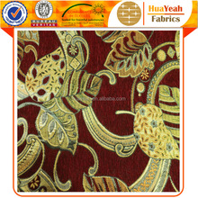 100 polyester wholesale jacquard african chenille dye sofa fabric