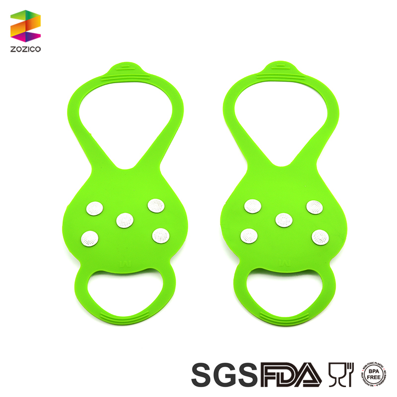 Rubber Shoes Cover Magic Spike Ice Gripper Ice Crampon for Cleat Crampons
