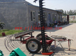 Tractor Trailed Lawn Mower with Rake Machine