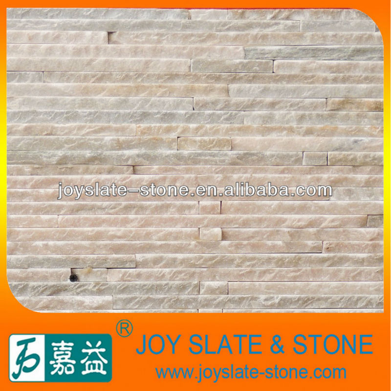 Natural quartz stone for wall cladding pink waterfall tile