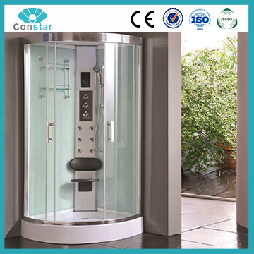 Low Plastic Tray Foot Massage glass partition shower room