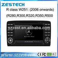 ZESTECH FACTORY special CAR dvd player for BENZ MERCEDES benz R W251(2006-2012) DVD GPS NAVIGATION WITH RADIO