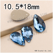 YR3230 10.5*18mm sapphire 108pcs/pack crystal sew on rhinestones diamonds stones beads for dress
