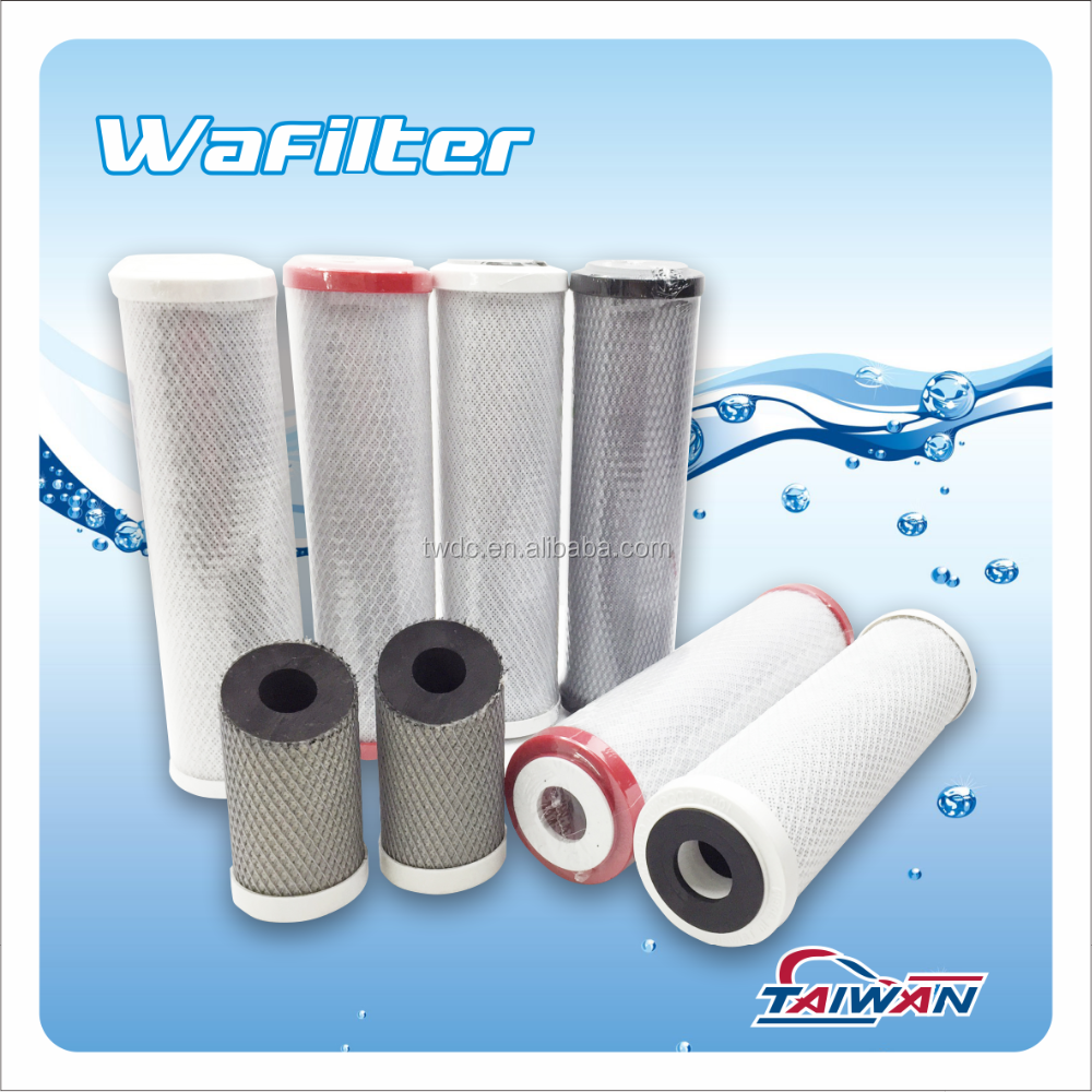 Anti-Bacterial CTO Carbon Block Filters RO Water Purifier